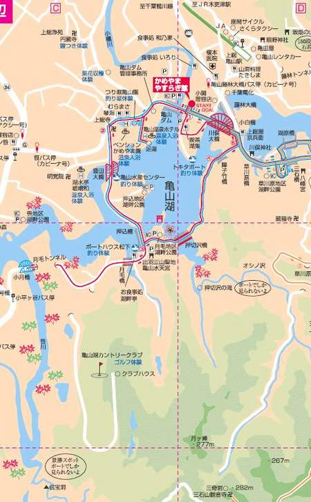 亀山湖MAP