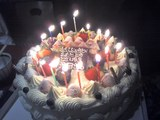 池田誕生日ケーキ