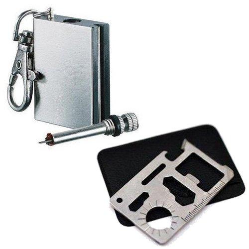 オイルマッチと万能ツールのセット/キャンプ・アウトドア・防災用品 サバイバルツール