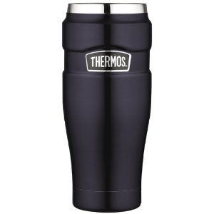 Thermos Stainless King  16-Ounce Leak-Proof Travel Mug, Midnight Blue 並行輸入