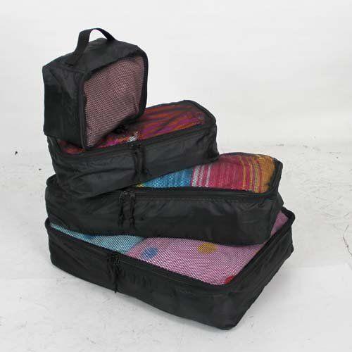 VAXPOT(バックスポット) アレンジケース 4点セット ポーチ 小物入れ スーツケースの中をすっきり整理 VA-1907 BLK