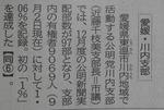 公明新聞1%達成記事(27年12月25日)1