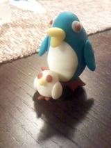 ねんどペンギン親子