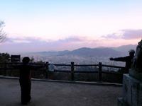 天拝山の朝