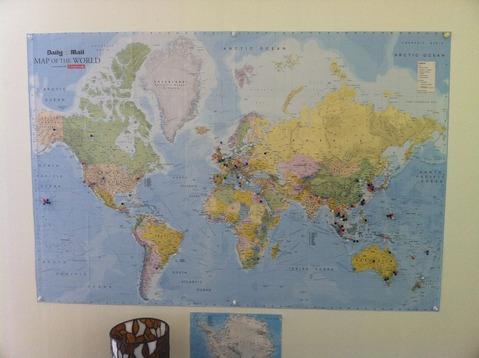 school pic - world map