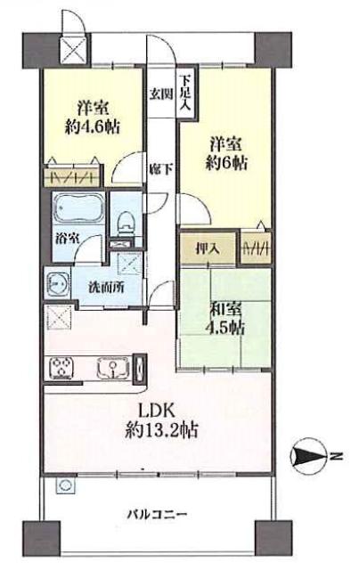 キングマンション千船三番館★4階