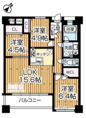 塚本ガーデンハウス★2階 図面
