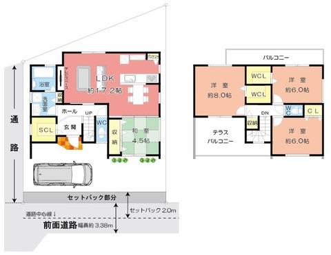 2階建図面