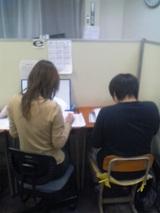 勉強しているMr.Manabe
