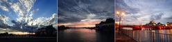 世界三大夕日のひとつ、幣舞橋(ぬさまいはし)の風景
