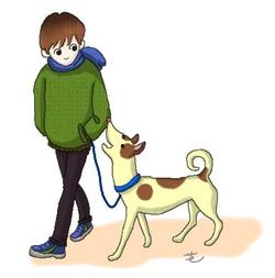 愛犬冬さんぽ