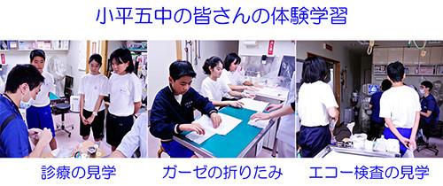 小平五中の生徒さん 職場体験学習 2014