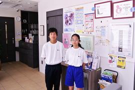 東京学芸大学附属小金井中学校の職場体験学習(2名)