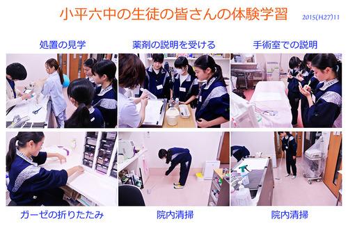 2015 中学生(小平六中)の職場体験学習