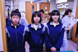職場体験学習 6中の学生さんたち 2011 11/25, 29, 30