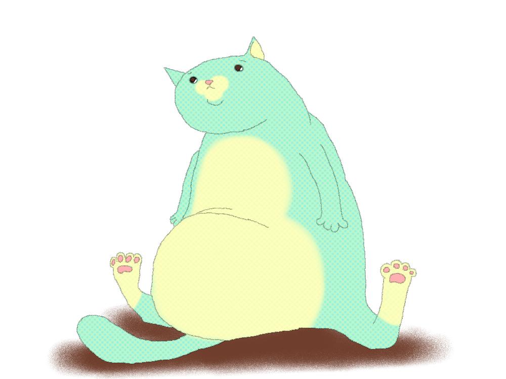 肥満猫のイメージ