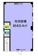 島屋ビル1階(ひぽぽたます)間取