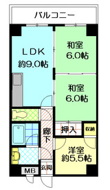 サンプラザ築山306号室(3LDK)