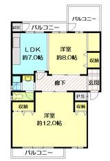 メゾンドール新町202号室