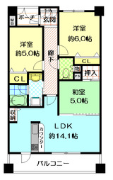 グランコート江坂Ⅱ402号室