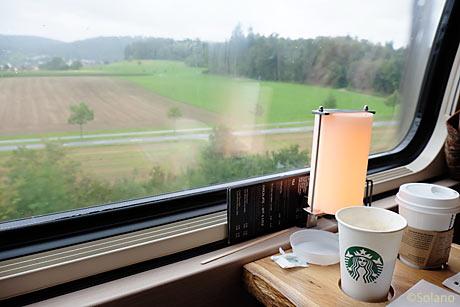 スイス国鉄、走るスターバックス