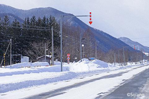 石北本線・旧白滝駅を後にし歩いて下白滝駅へ…