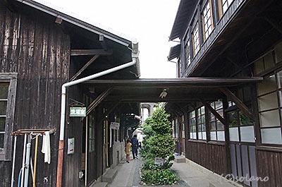 天浜線車庫構内の木造建築