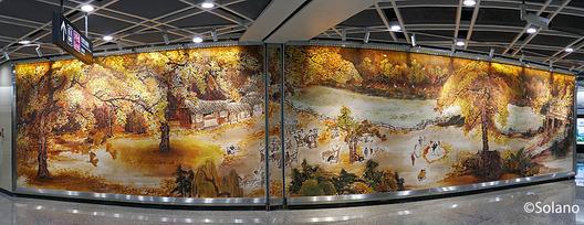 成都メトロ・太平園駅の壁画