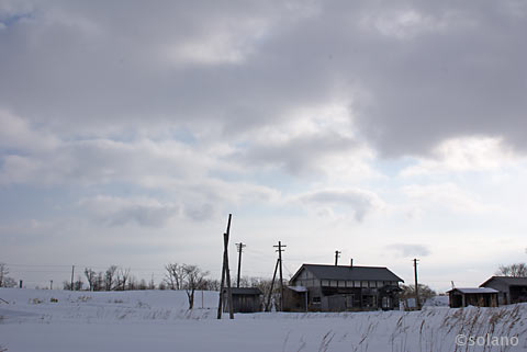 旧標津線、奥行臼駅跡と周辺の風景