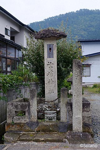 中川駅近く、古峯神社の石碑