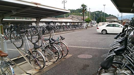 古井駅、自転車置き場
