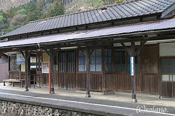 姫新線岩山駅、駅舎ホーム側