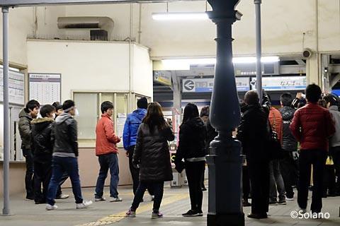 浜寺公園駅、現駅舎が向かえる最後の列車が来た時
