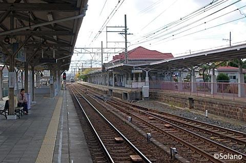 南海・浜寺公園駅、上り3番線と切り欠きの4番線