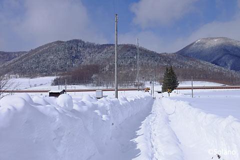 旧白滝駅南側からの風景