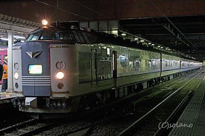 下り急行きたぐに、深夜の金沢駅