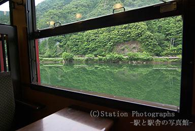 いさぶろう・しんぺい用車両から見た球磨川