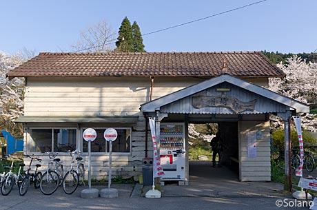 小湊鉄道、月崎駅の木造駅舎