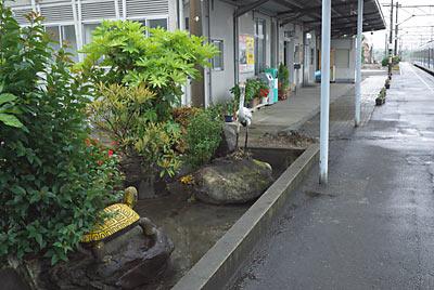 日豊本線 築城駅、池庭跡。