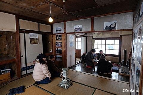 深名線・沼牛駅駅舎、修復された駅長居住スペース