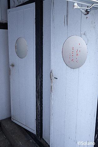 上白滝駅、別棟の古い木造トイレ
