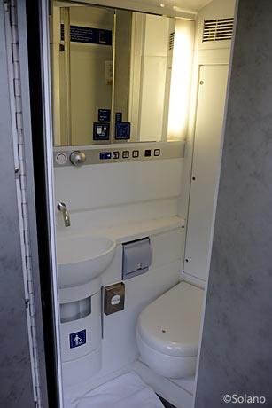 CNL2階建て車両デラックスルーム、トイレ
