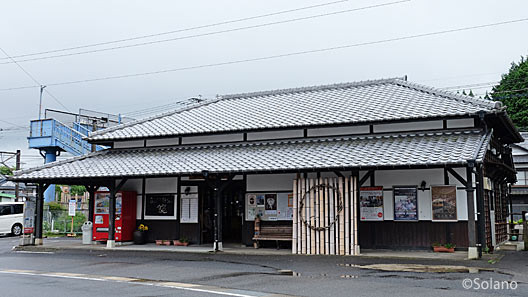 JR九州・佐世保線、三間坂駅の木造駅舎。