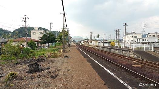 高山本線・古井駅、かつて桜が植えられていた下りホーム