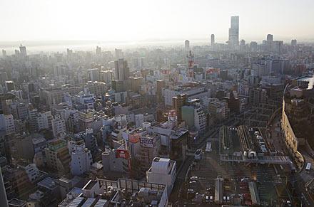 スイスホテル南海大阪、客室からの眺望