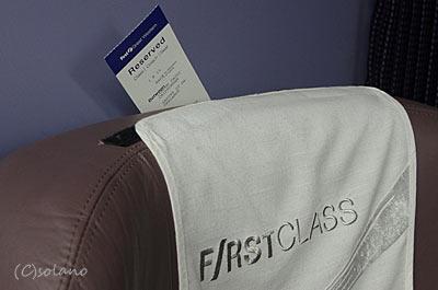 ファーストグレートウェスタン、座席に取り付けられた予約札
