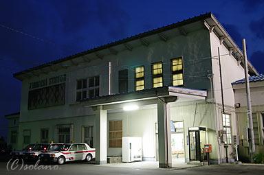 夜の神町駅