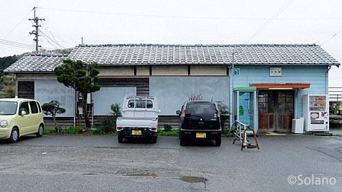 JR西日本・姫新線、太市駅の木造駅舎