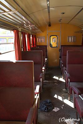 トゥア駅、メーターゲージ車両1等車客室