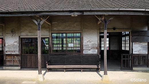 JR九州・筑肥線、肥前長野駅: 駅舎ホーム側